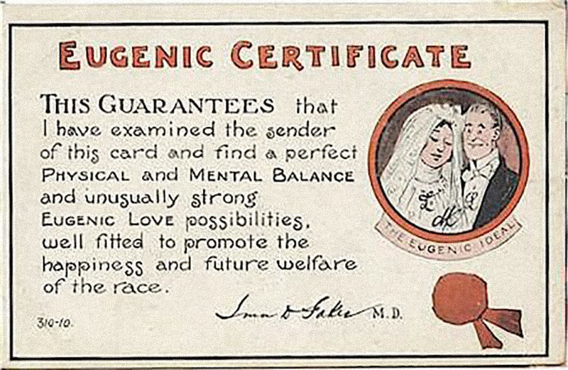 A eugenics marriage certificate