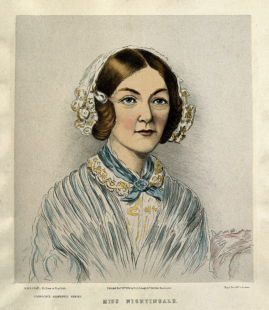Florence Nightingale by H. M. Bonham-Carter, 1854