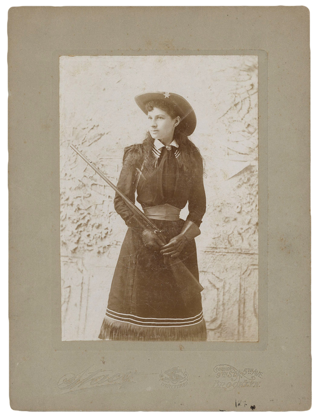 Annie Oakley by Charles Stacy, 1894