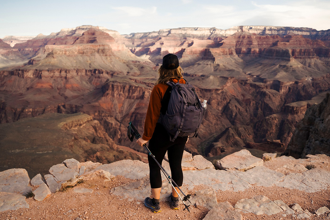 A woman hiking in the Southwest