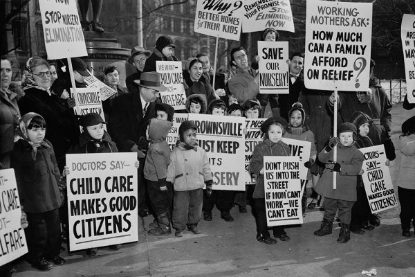 Protest Against Closing of Child Care Center