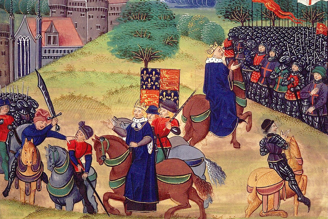 Illustration depicting the Peasants' Revolt from Jean Froissart's Chronicles Vol. 2, ca. 1460-80
