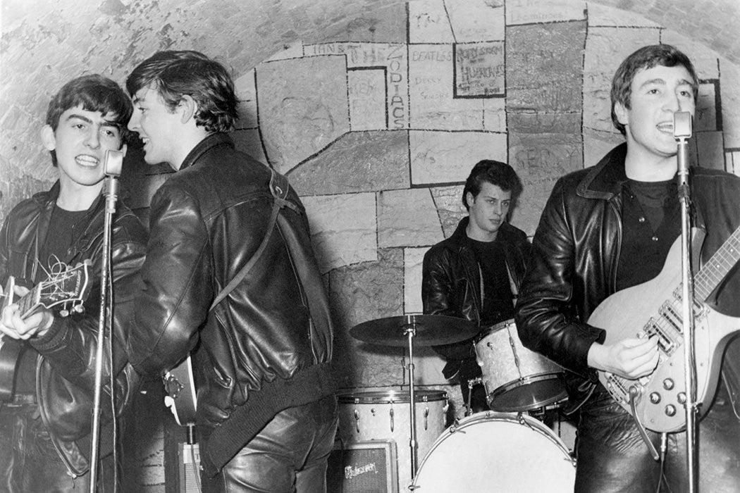 The Beatles performing in 1961