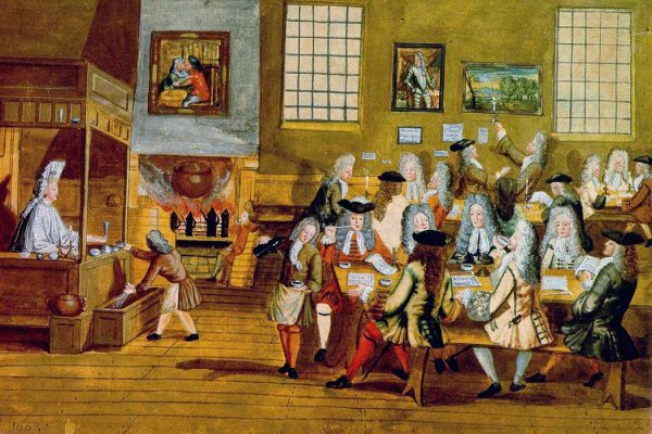 Interior of a London Coffee-house, 17th century
