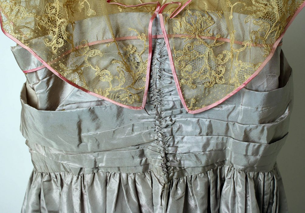 Detail from an evening dress designed by Lady Duff Gordon