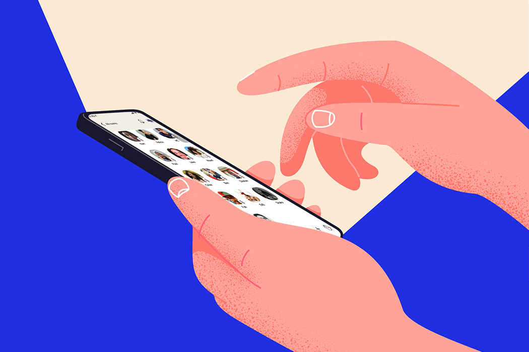 A smartphone in someone's hand