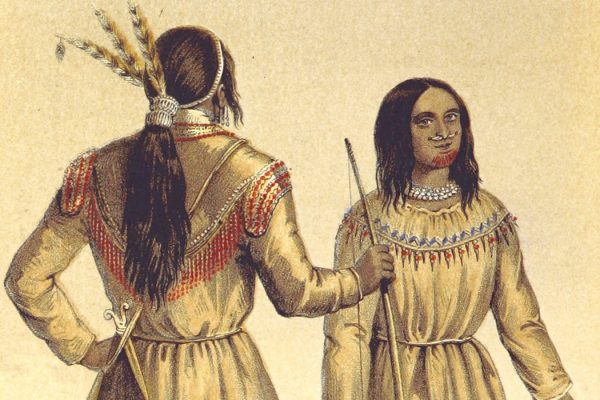 Gwich'in warrior and his wife