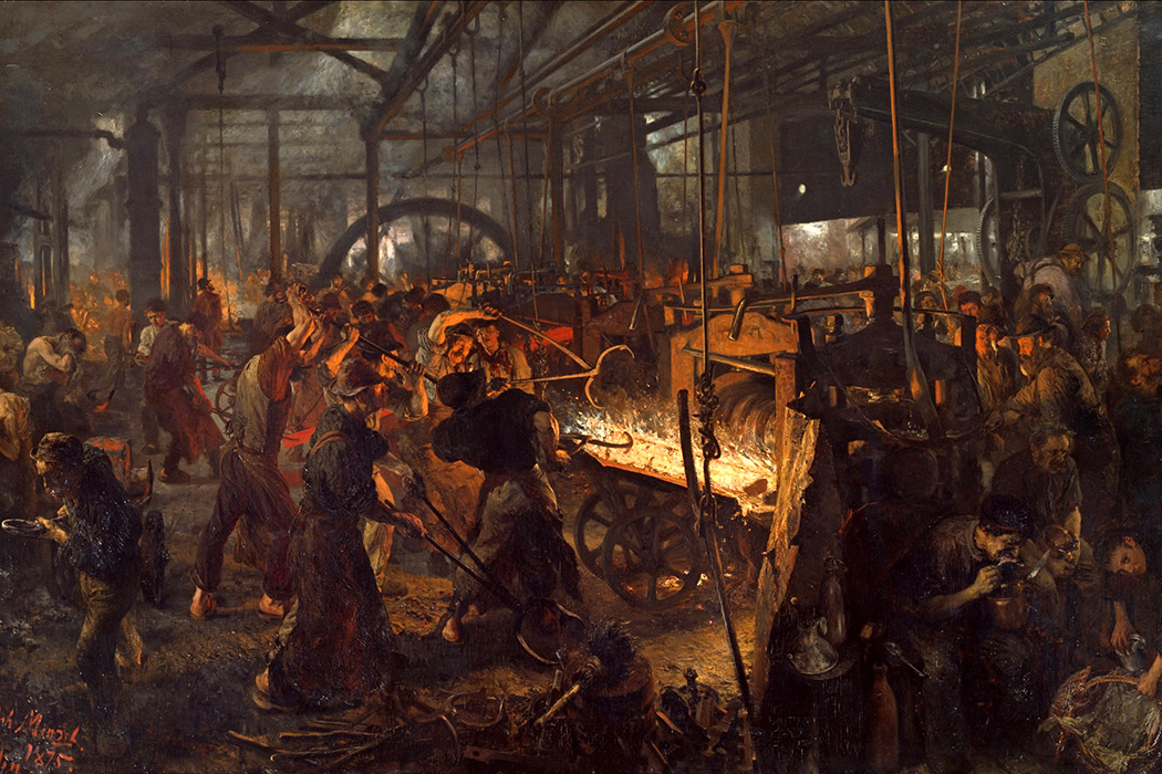 Adolph Menzel -The Iron Rolling Mill