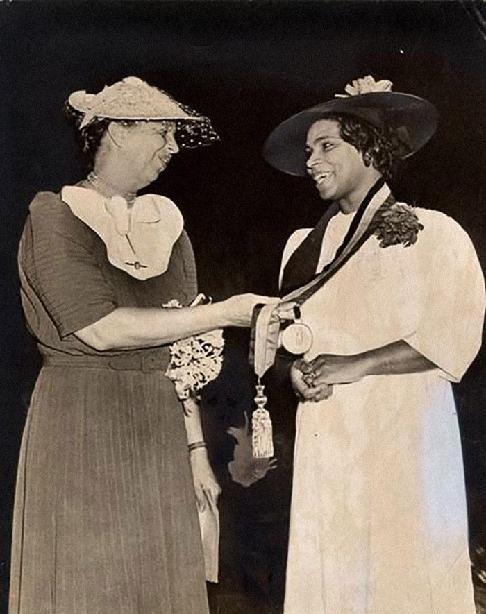 Marian Anderson with Eleanor Roosevelt