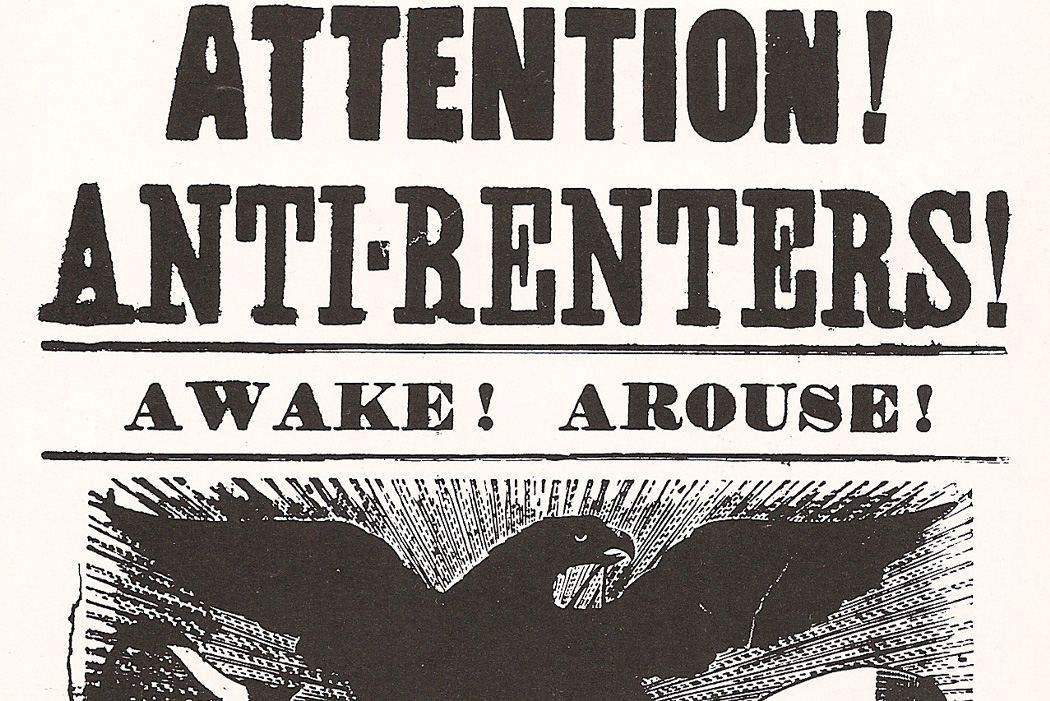 A poster supporting the Anti-Rent Movement, 1839