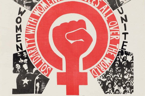 Women's Day March poster from the Womens Liberation Workshop in London, 1975