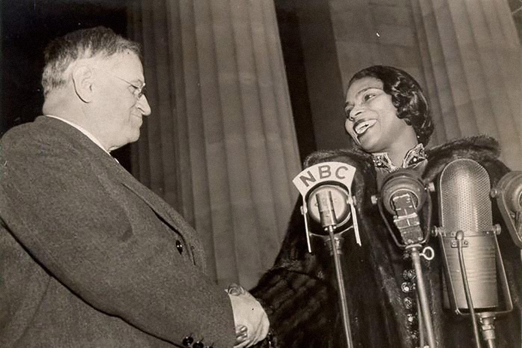 Marian Anderson with Harold L. Ickes (Secretary of the Interior)