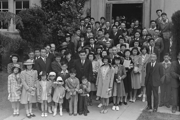 Members of the Japanese Independent Congregational Church attend Easter services in Oakland, California, 1942