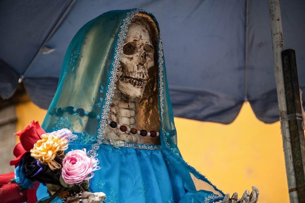 An altar for Santa Muerte
