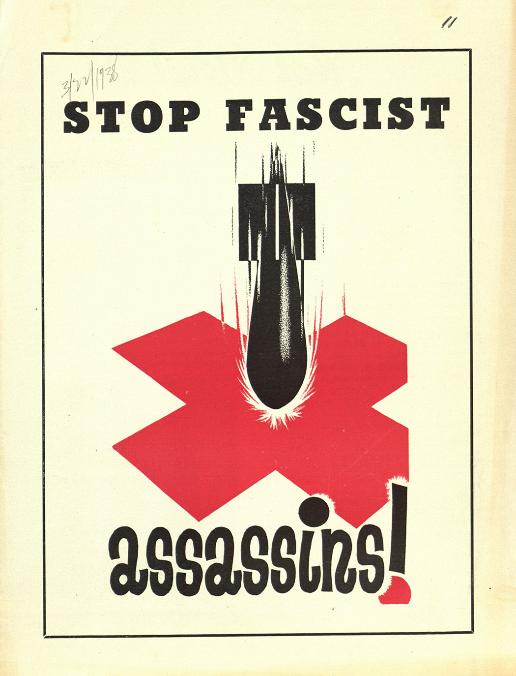 Political pamphlet advertising the American Student Union.
