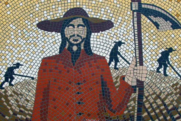A mosaic along the Surrey Diggers Trail, Cobham UK