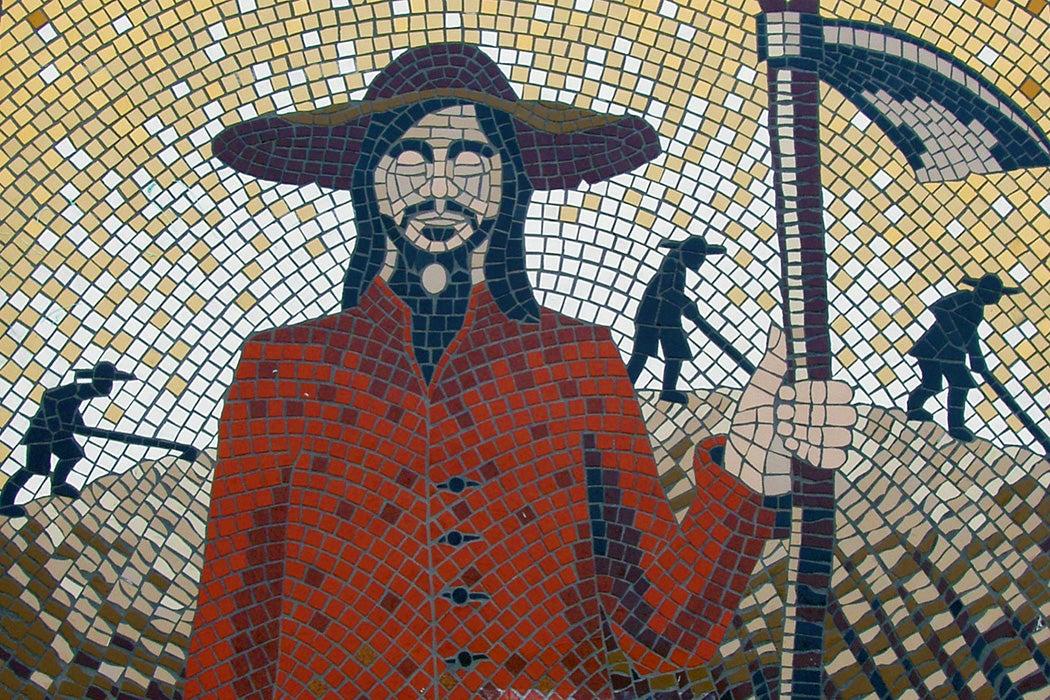 A mosaic along the Surrey Diggers Trail, Cobham UK