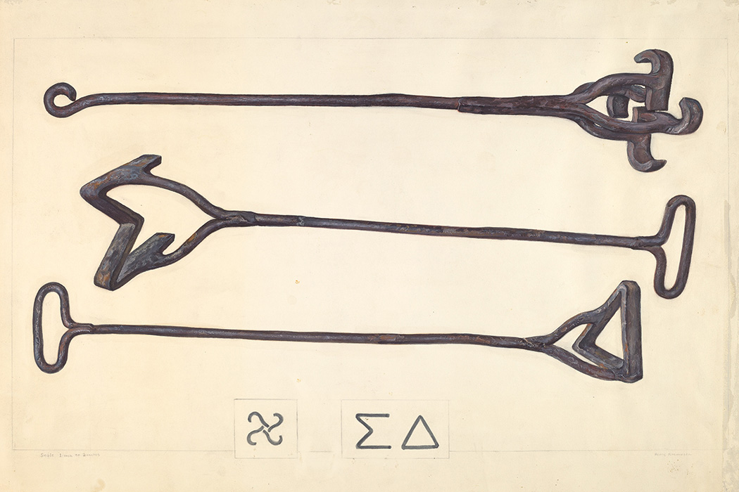 Illustration: Branding Iron by Henry Rasmusen, c. 1937  Source: https://commons.wikimedia.org/wiki/File:Henry_Rasmusen,_Branding_Iron,_c._1937,_NGA_21119.jpg