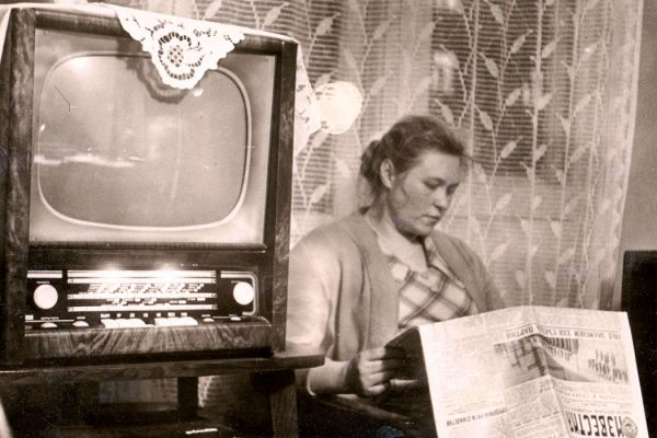A woman in a soviet house