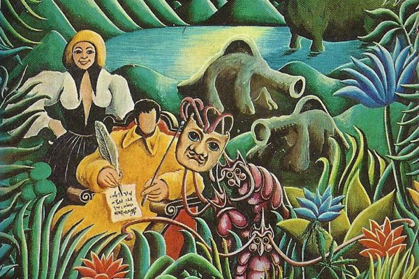 Illustration: An illustration from the cover of Warm Worlds and Otherwise by James Tiptree, Jr.  Source: Ballantine