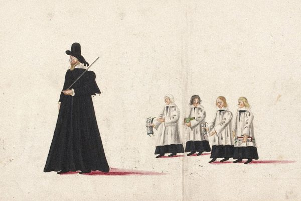 Drawing of the funeral procession of Elizabeth I of England