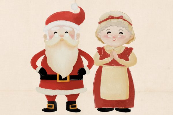 Santa Claus and Mrs. Claus