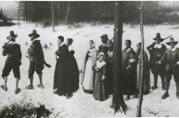 Puritans Going To Church By G.H. Boughton
