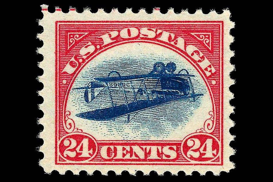 US Airmail stamp: Inverted Jenny Air Mail Issue of 1918