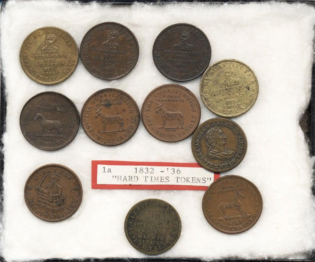 Jackson-Van Buren Promotional and Satirical tokens, ca. 1832-1837