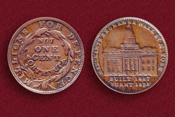 1837 Merchant's Exchange Hard Times Token