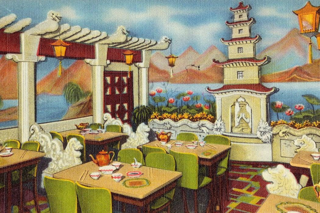 A postcard for Ruby Foo's Den in Boston