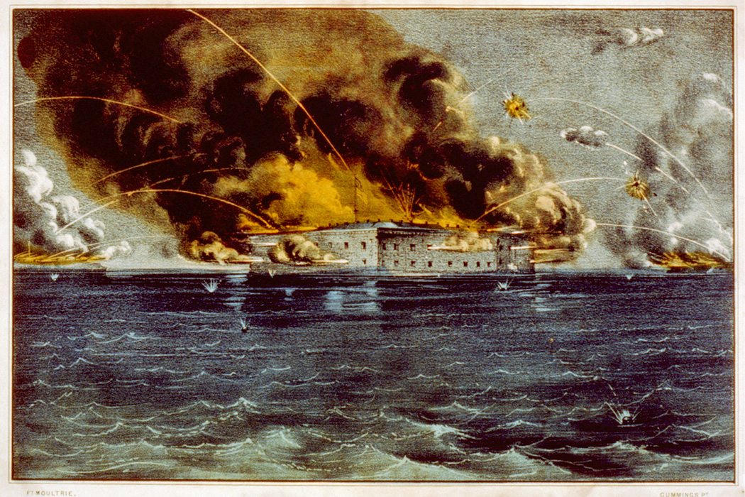 Bombardment of Fort Sumter, Charleston Harbor: 12th & 13th of April, 1861