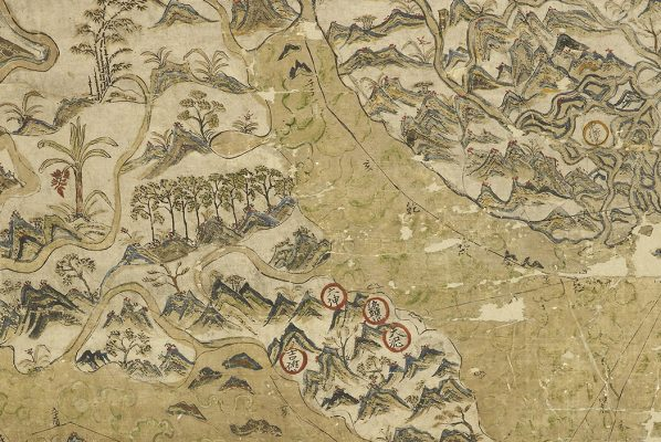 Detail from the recently rediscovered Seldon Map from the Bodleian Library (