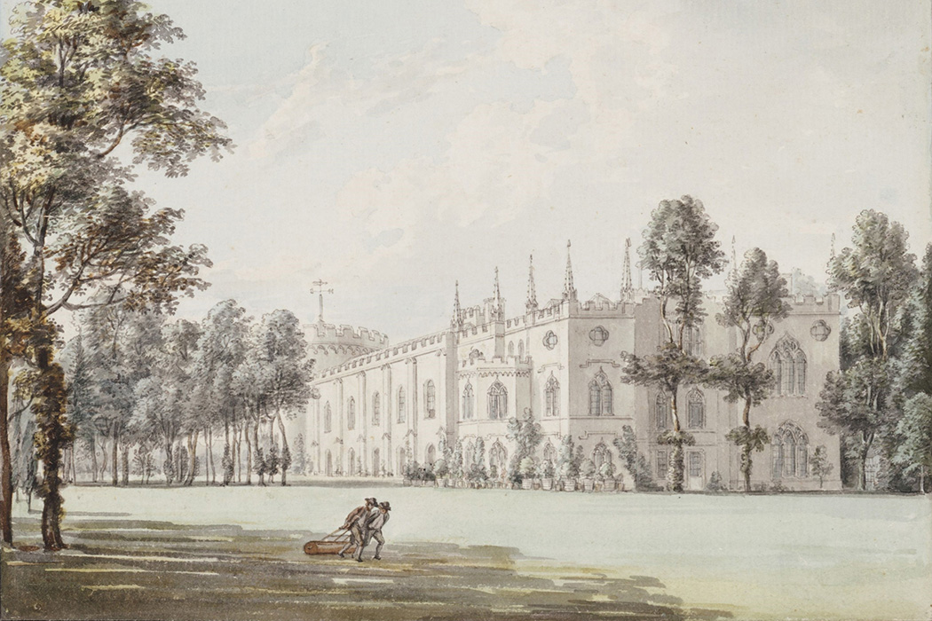 A painting of Strawberry Hill from the Southeast by Paul Sandby