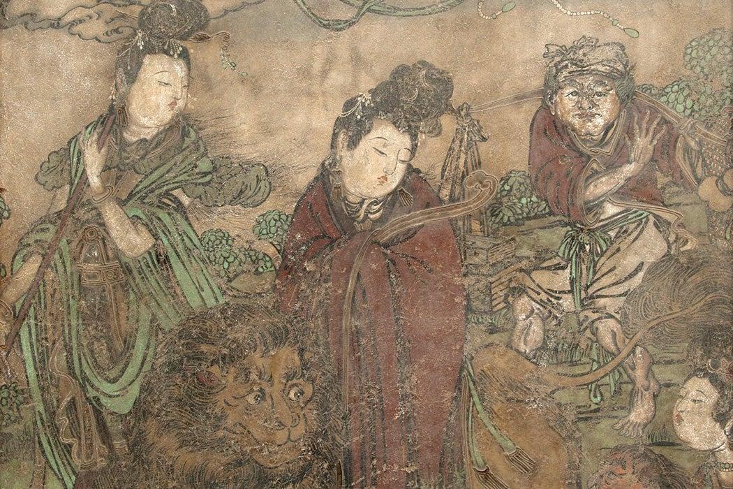 Kuan Yin and Attendants, 1368