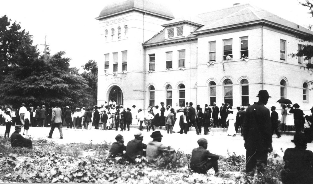 """The end of the """"White Man's Rally"""" on November 1, 1898 in Wilmington, NC"""