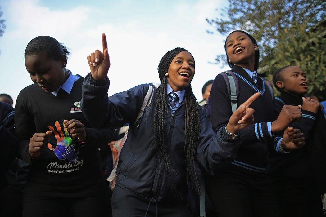 Schoolchildren in Soweto, South Africa