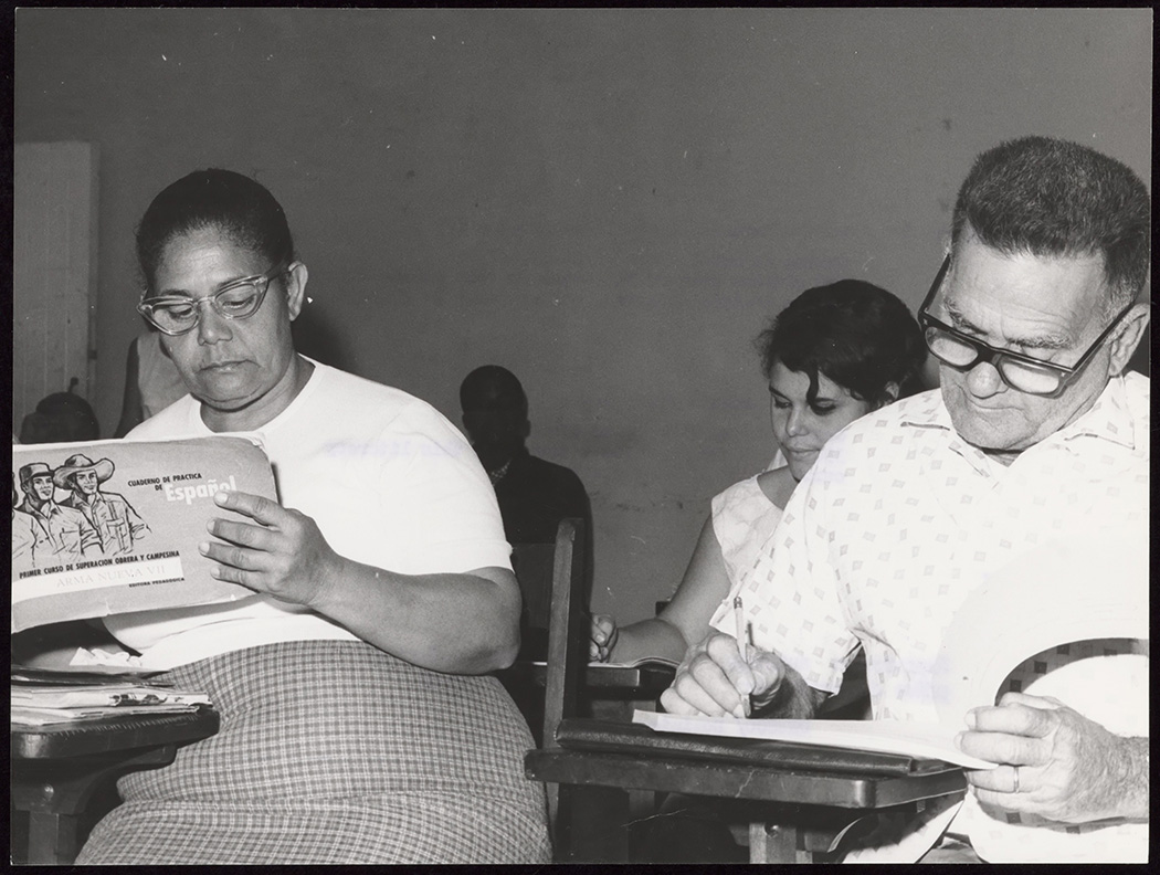 Adult students at a literacy center near Havana