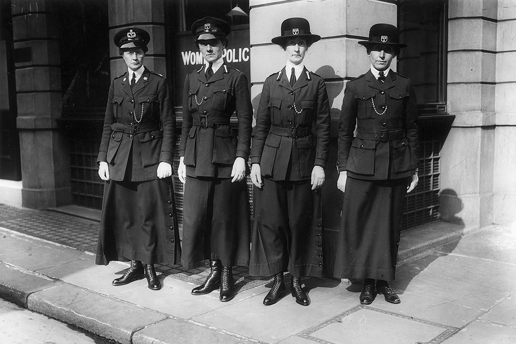 Members of the women's police service during World War I.