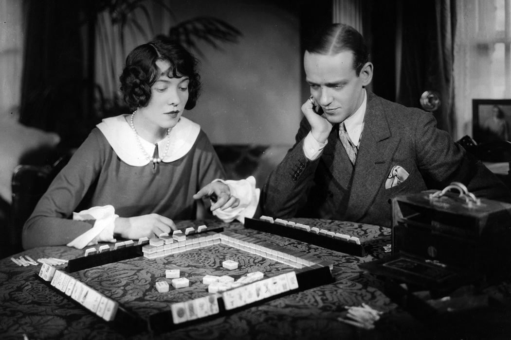 Fred Astaire and his sister Adele playing Mah Jong, 1926