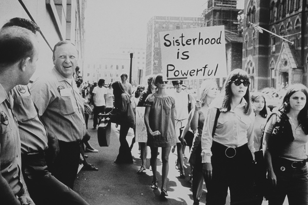 Photograph: Women marching c. 1975  Source: Getty