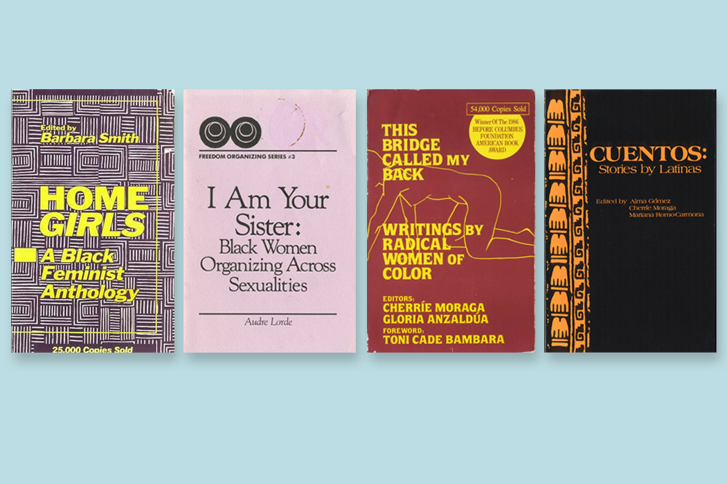 Four books published by Kitchen Table Press