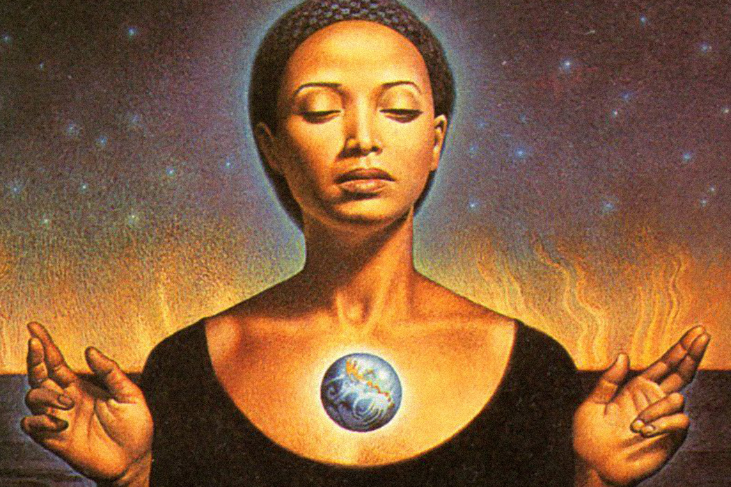 Illustration from the cover of Octavia Butler's Parable of the Sower