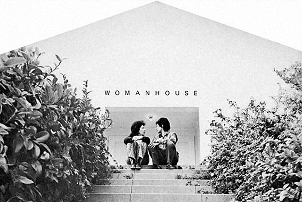 "The front page of the exhibition catalog for ""Womanhouse"" (January 30 – February 28, 1972), feminist art exhibition organized by Judy Chicago and Miriam Schapiro, co-founders of the California Institute of the Arts (CalArts) Feminist Art Program."