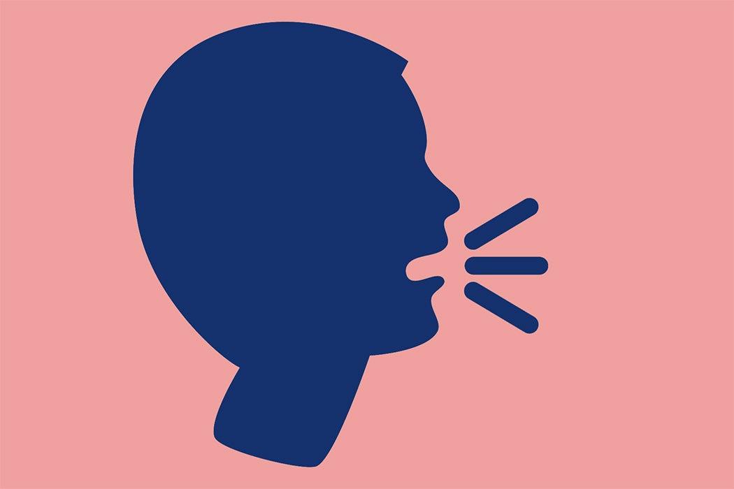 A speaking head emoji