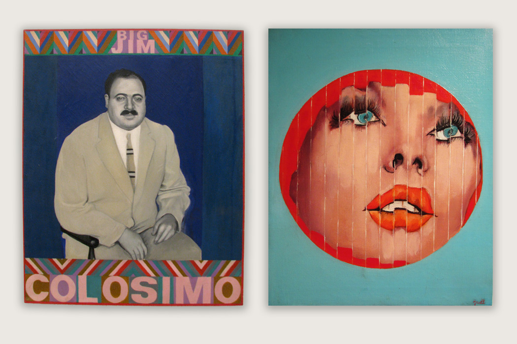 Big Jim Colosimo by Pauline Boty and Portrait fragmenté by Evelyne Axell