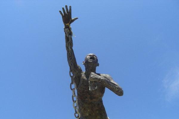 Statue of Benkos Biohó in San Basilio de Palenque, Colombia