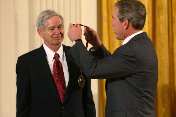 Charles David Keeling & George W. Bush, 2001