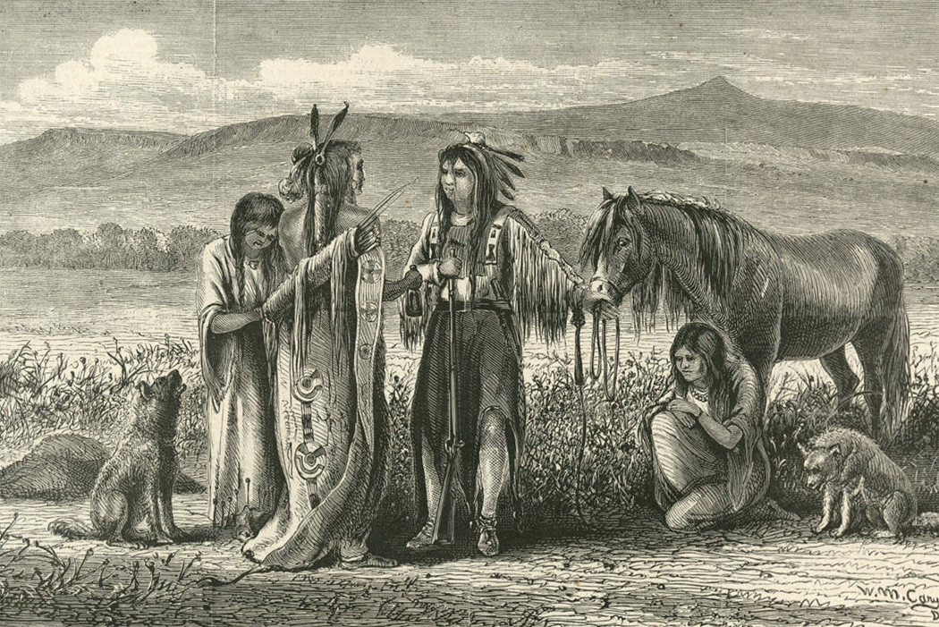 An image of Native Americans swapping wives