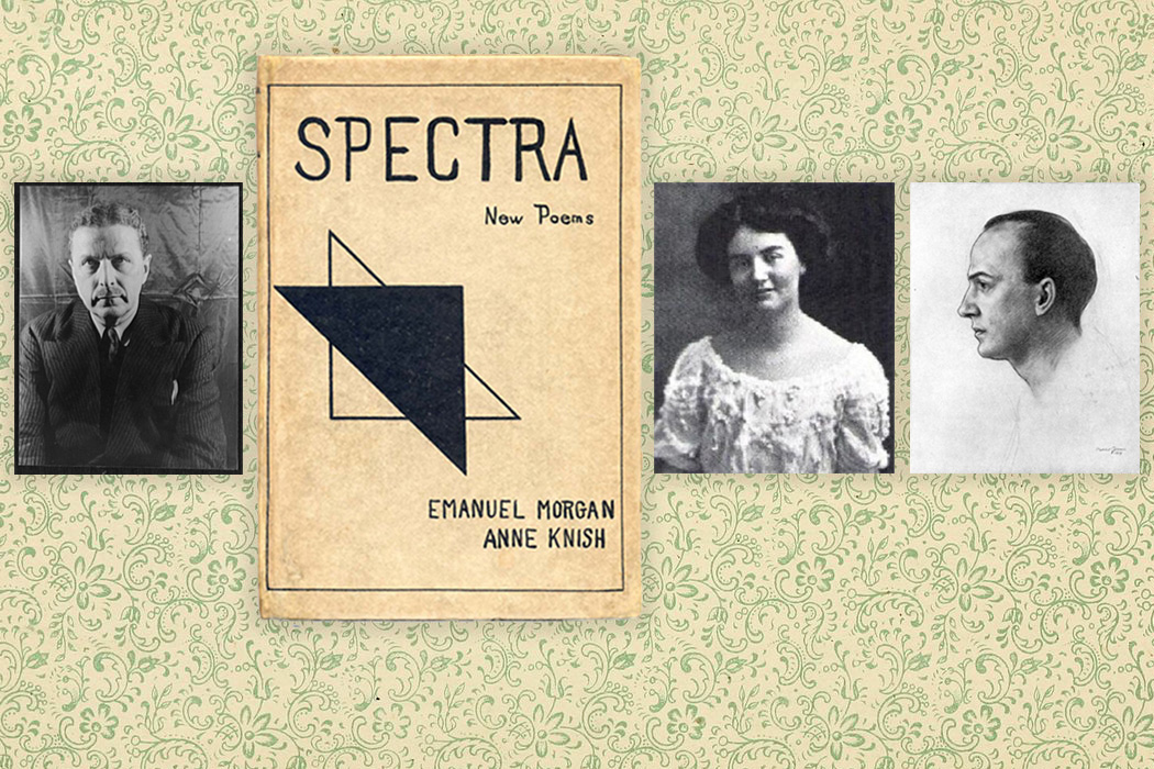 From left to right: Arthur Davison, Marjorie Allen Sieffert, and Witter Bynner